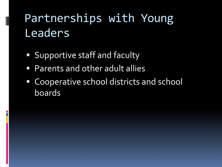 Partnerships with Young Leaders