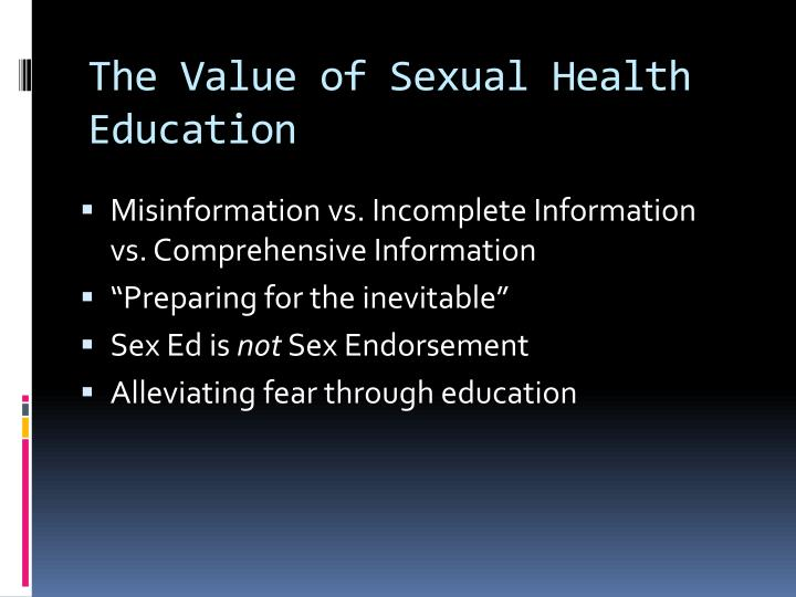 The Value of Sexual Health Education