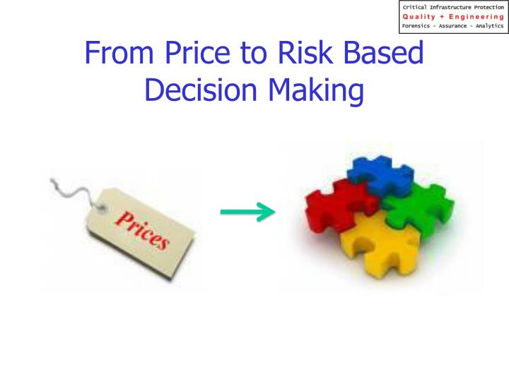 From Price to Risk Based