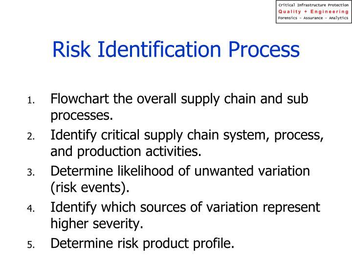 Risk Identification Process