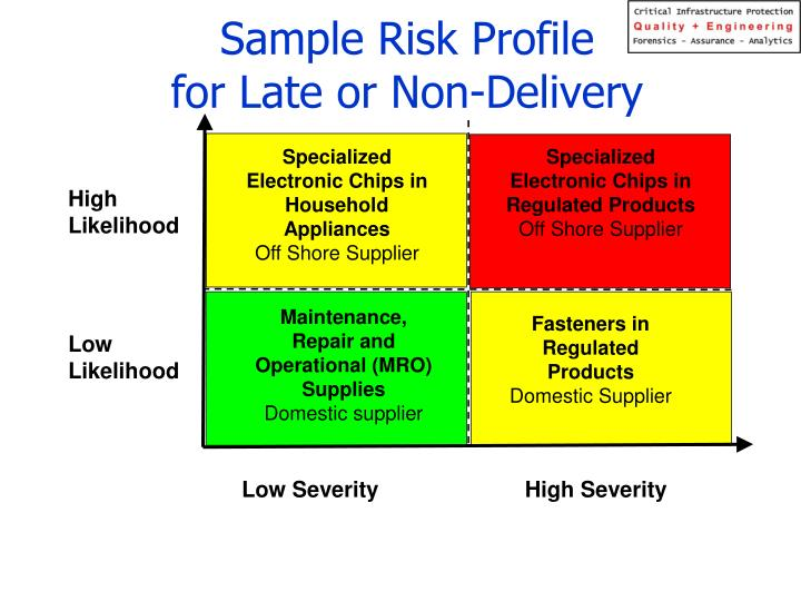 Sample Risk Profile