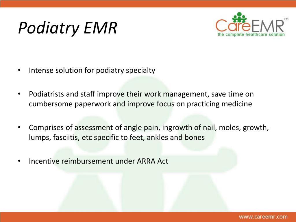 Podiatry EMR