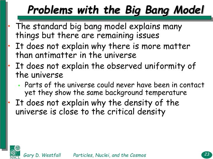 Problems with the Big Bang Model