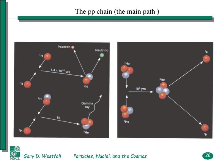 The pp chain (the main path )