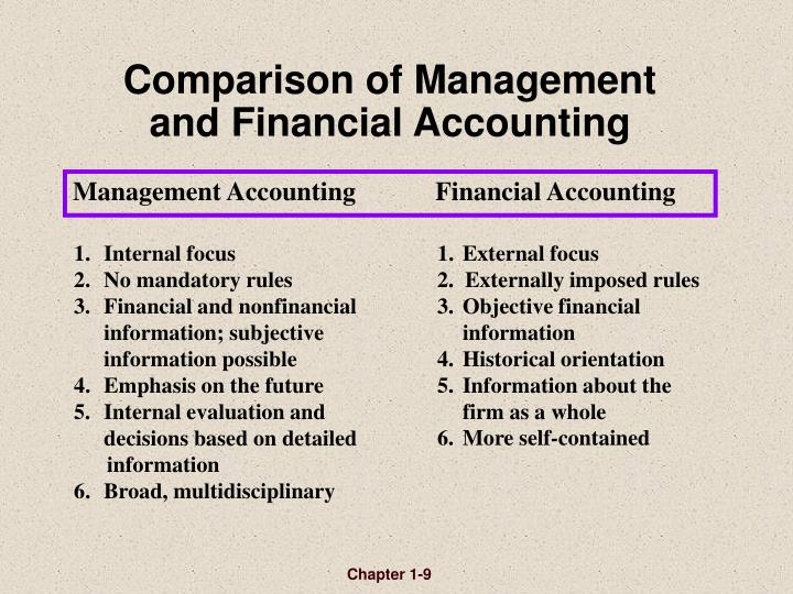 Comparison of Management and Financial Accounting