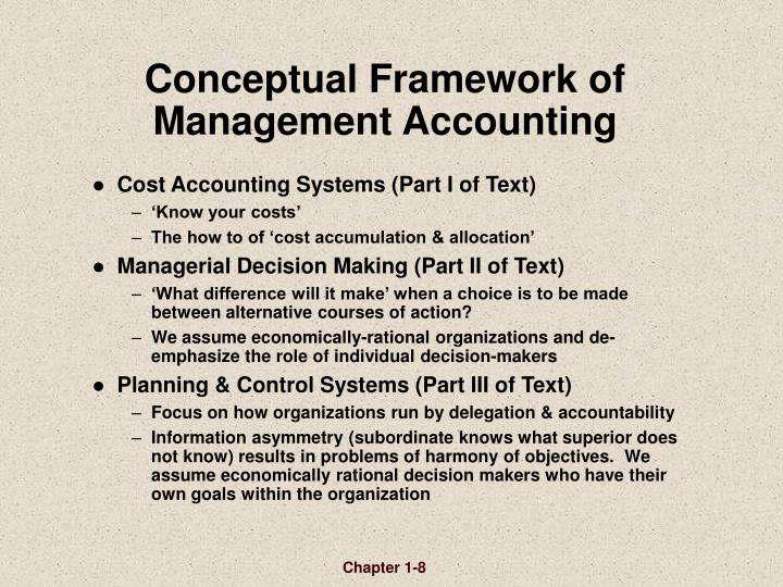 Conceptual Framework of  Management Accounting