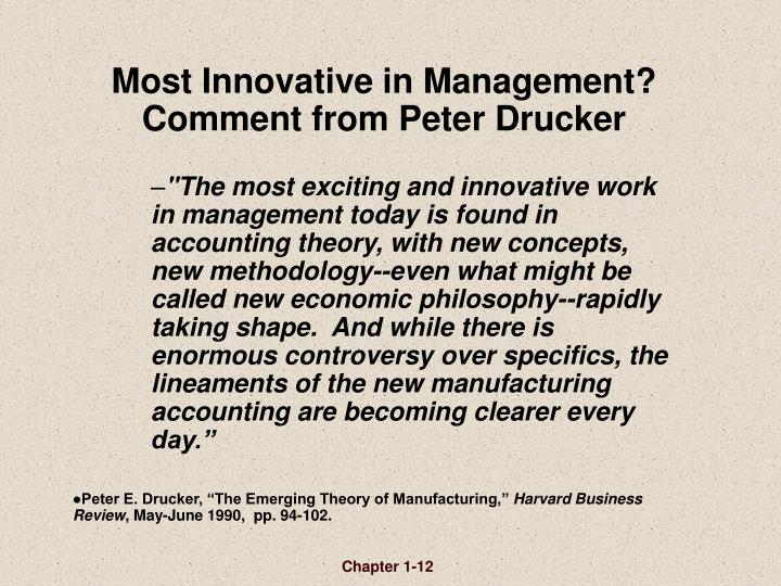 Most Innovative in Management?