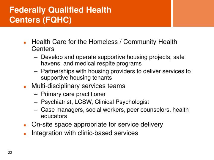 Federally Qualified Health Centers (FQHC)
