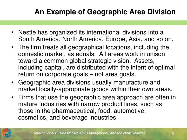 An Example of Geographic Area Division
