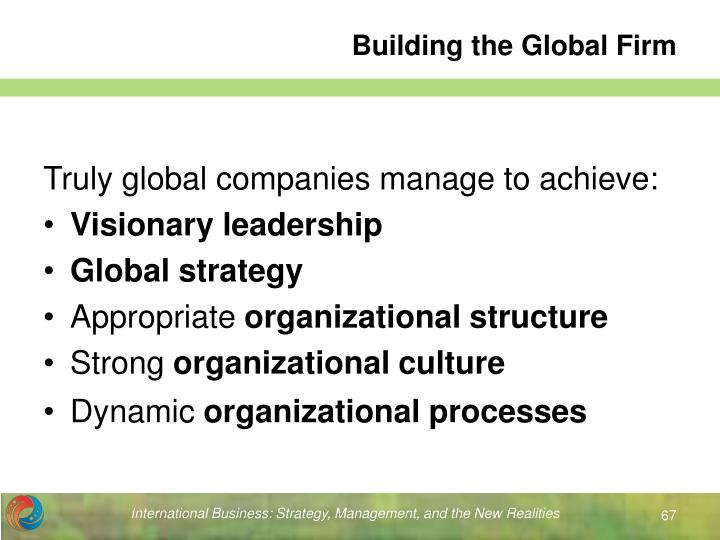 Building the Global Firm