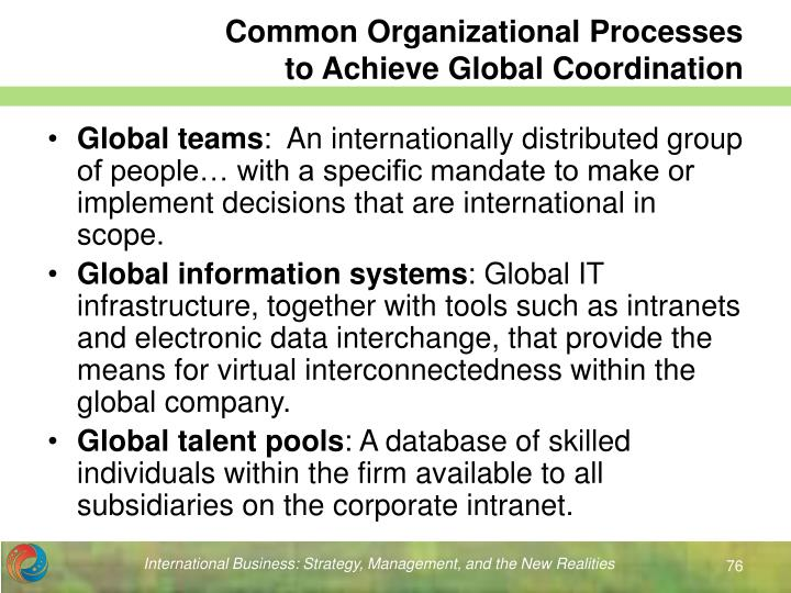 Common Organizational Processes