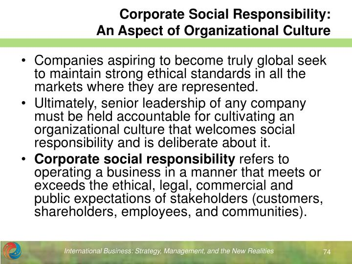 Corporate Social Responsibility: