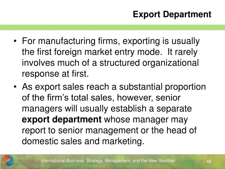 Export Department
