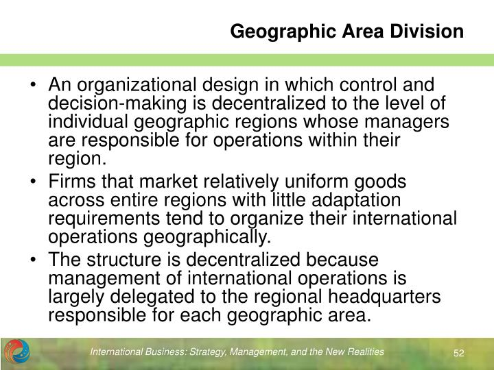 Geographic Area Division