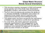 global matrix structure blends several orientations