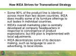 how ikea strives for transnational strategy