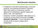multi domestic industries