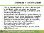 objectives of global integration