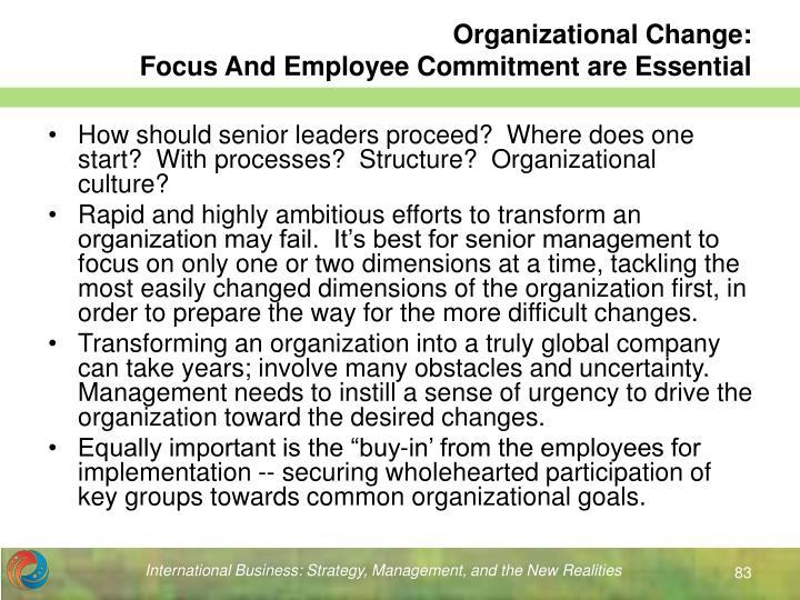 Organizational Change: