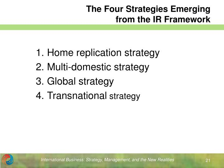 The Four Strategies Emerging