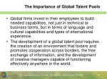 the importance of global talent pools
