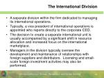 the international division