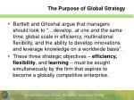 the purpose of global strategy