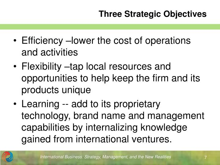 Three Strategic Objectives