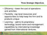 three strategic objectives