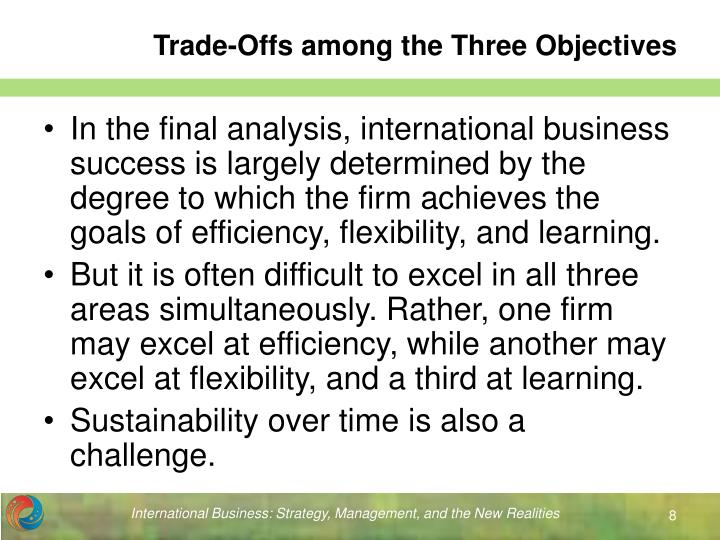 Trade-Offs among the Three Objectives