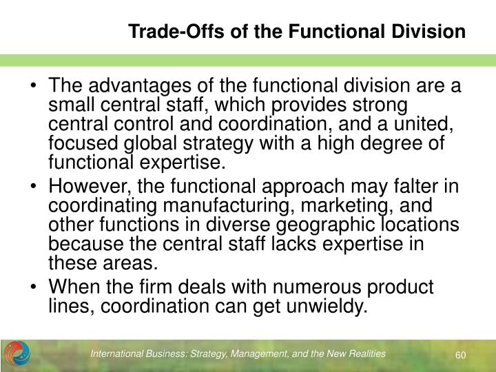 Trade-Offs of the Functional Division