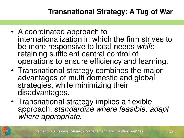 Transnational Strategy: A Tug of War