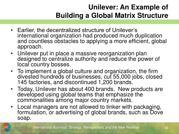 Unilever: An Example of