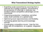 what transnational strategy implies