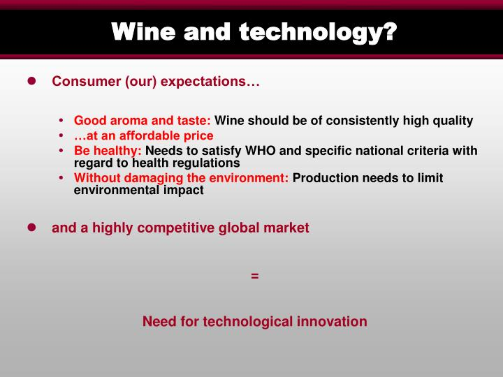 Wine and technology1