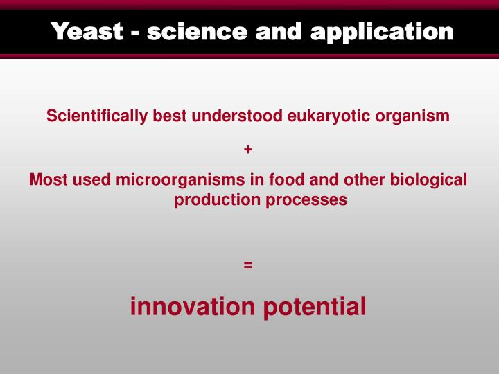 Yeast - science and application