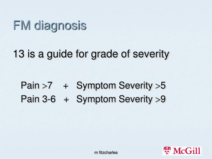 FM diagnosis