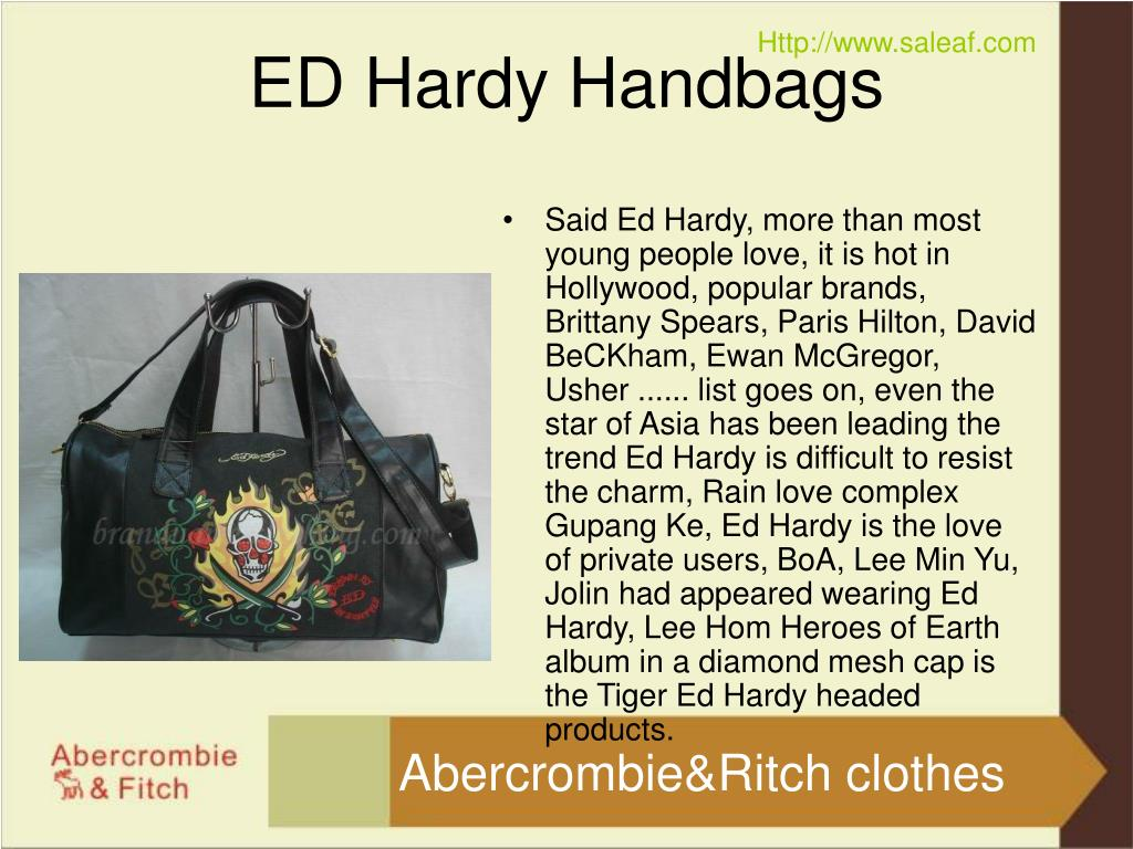 Said Ed Hardy, more than most young people love, it is hot in Hollywood, popular brands, Brittany Spears, Paris Hilton, David BeCKham, Ewan McGregor, Usher ...... list goes on, even the star of Asia has been leading the trend Ed Hardy is difficult to resist the charm, Rain love complex Gupang Ke, Ed Hardy is the love of private users, BoA, Lee Min Yu, Jolin had appeared wearing Ed Hardy, Lee Hom Heroes of Earth album in a diamond mesh cap is the Tiger Ed Hardy headed products.