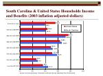south carolina united states households income and benefits 2003 inflation adjusted dollars