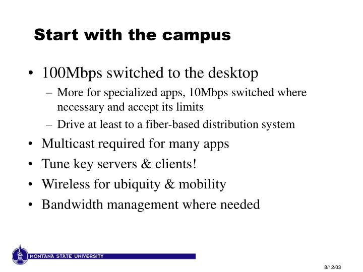 Start with the campus