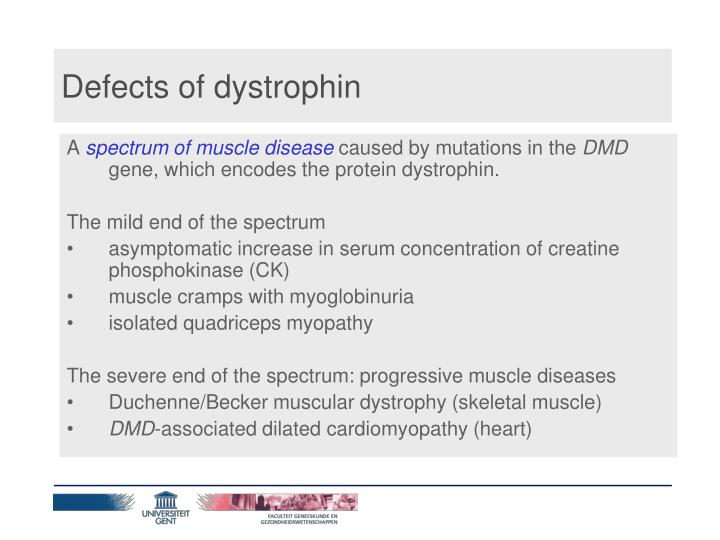 Defects of dystrophin