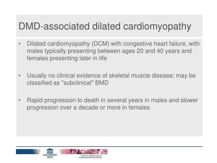 DMD-associated dilated cardiomyopathy