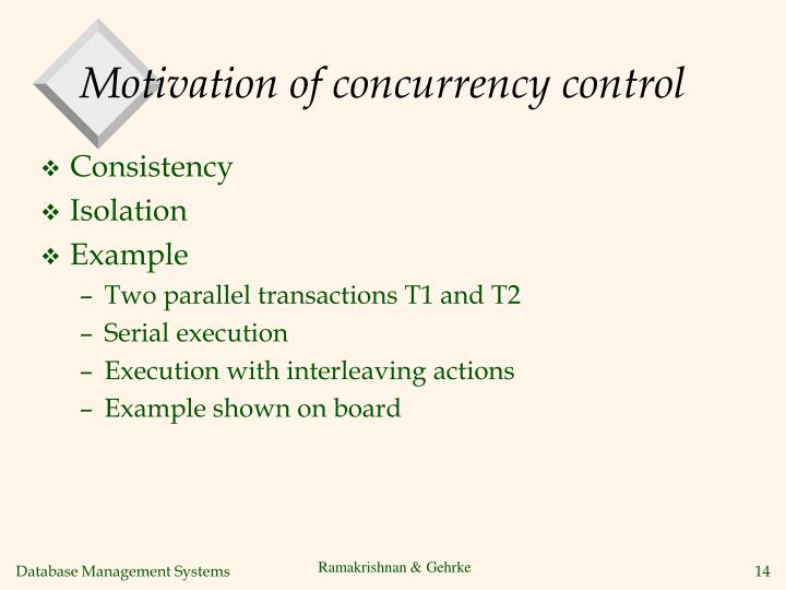 Motivation of concurrency control
