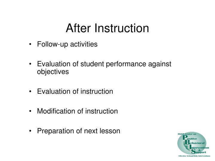 After Instruction