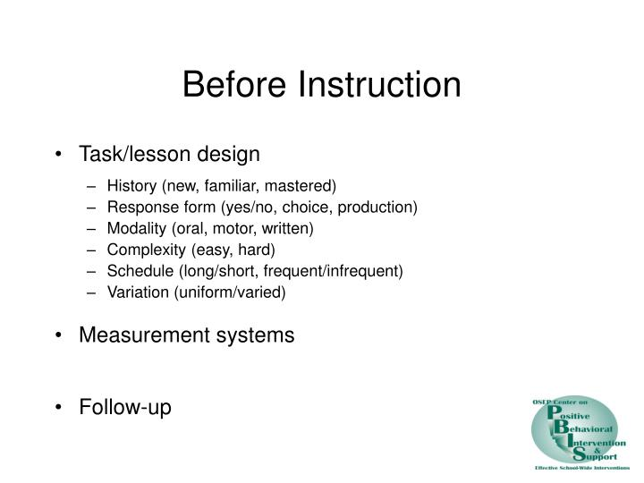 Before Instruction