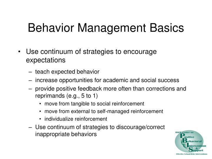 Behavior Management Basics