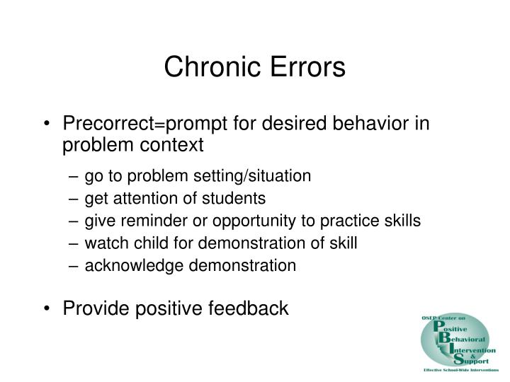 Chronic Errors