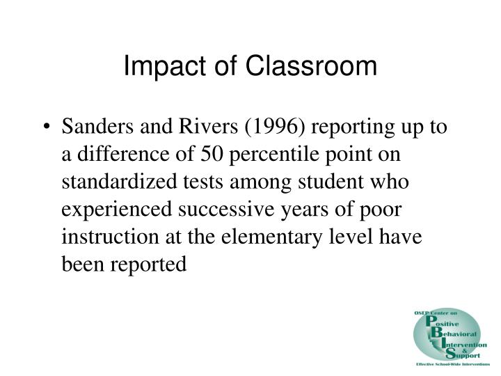 Impact of Classroom