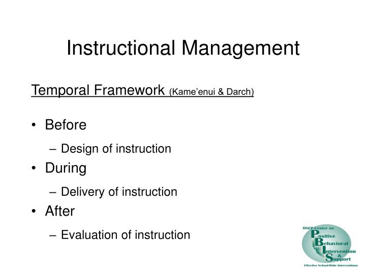 Instructional Management