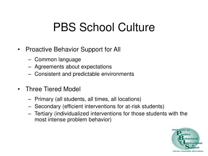 PBS School Culture